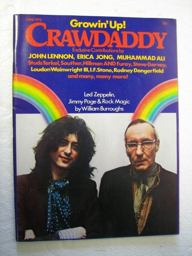 Обложка Crawdaddy William Burroughs on…Led Zeppelin! | Arthur Magazine